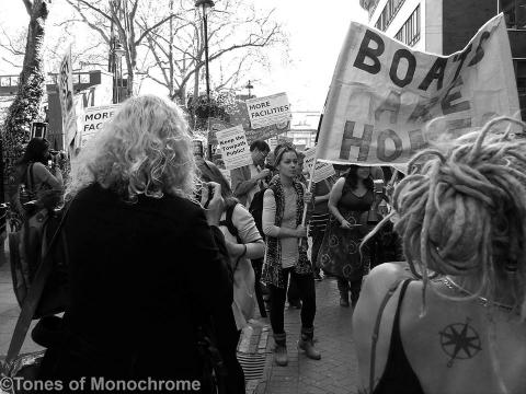 Photo of Bargee Travellers march in London